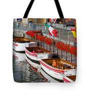 Tour Boats Tote Bag