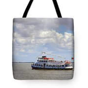 Touring Boat Tote Bag