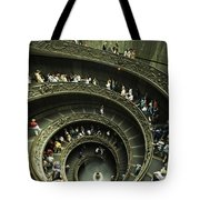 Tourists Descend The Double Spiral Tote Bag