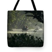 Tourists Exploring The Rain Forest Tote Bag