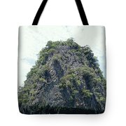 Tourists In Canoes Explore Rainforest Tote Bag