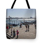 Tourists In Venice Tote Bag