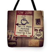 Tow Zone Collage Tote Bag