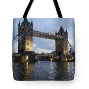 Tower Bridge And River Thames At Dusk Tote Bag