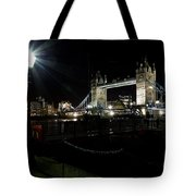 Tower Bridge And Riverside Night View  Tote Bag