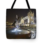 Tower Bridge Girl With A Dolphin Tote Bag