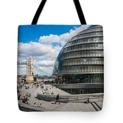Tower Bridge With City Hall Tote Bag