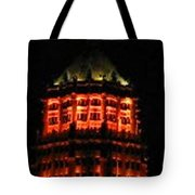 Tower Life Building At Night Tote Bag
