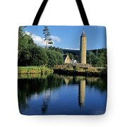 Tower Near A Lake, Round Tower, Ulster Tote Bag