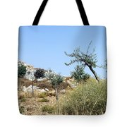 Tower Of Beitin - Biblical Bethel Tote Bag