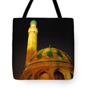 Towering Mosque In The Night Tote Bag by Rick Frost
