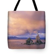 Towers Of Calcium Carbonate Called Tufa Tote Bag