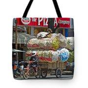 Towing A Big Load Tote Bag