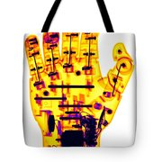 Toy Robotic Hand X-ray Tote Bag
