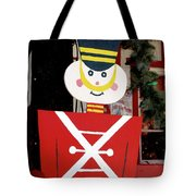 Toy Soldier Christmas In Virginia City Tote Bag