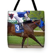 Track Listed Muddy Tote Bag