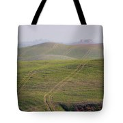 Tracks On The Field Tote Bag