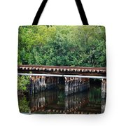 Tracks On The River Tote Bag