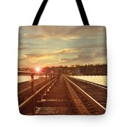 Tracks To Greatness Tote Bag
