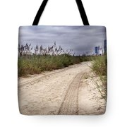 Tracks To The City Tote Bag
