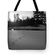 Tracks To The Water Tote Bag