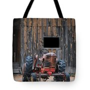 Tractor And The Barn Tote Bag