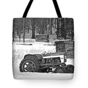Tractor At The Mill  Tote Bag