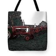 Tractor Row Tote Bag