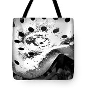 Tractor Seat Close Up Black And White Tote Bag