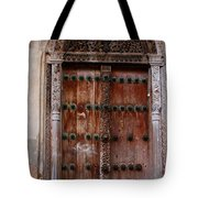 Traditional Carved Door Tote Bag