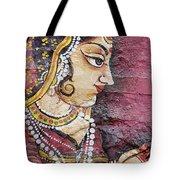 Traditional Painting On A Wall Jodhpur Tote Bag