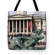 Trafalgar Square With Fountain Tote Bag