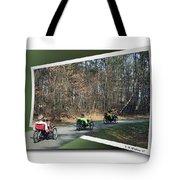 Trail Of Trikes Tote Bag