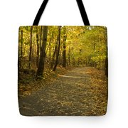 Trail Scene Autumn Abstract 1 Tote Bag