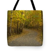 Trail Scene Autumn Abstract 3 Tote Bag