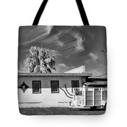Trailer Town 2 Bw Tote Bag