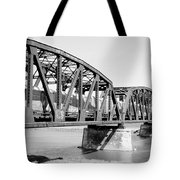 Train Across Bridge Tote Bag