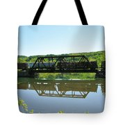 Train And Trestle Tote Bag