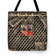 Train Behind A Fence Tote Bag