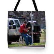 Train Crossing Tote Bag