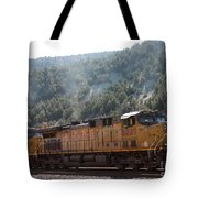 Train In Spanish Fork Canyon Tote Bag