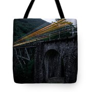Train Lights Tote Bag