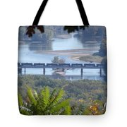 Train On The Mississippi Tote Bag