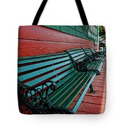 Train Station Waiting Area Tote Bag