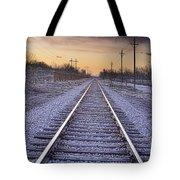 Train Tracks And Color 2 Tote Bag