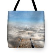 Train Tracks Into The Clouds Tote Bag