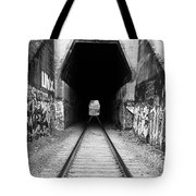 Train Tunnel At The Muir Trestle In Martinez California . 7d10235 . Black And White Tote Bag