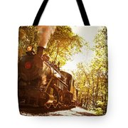 Trains A Coming Tote Bag