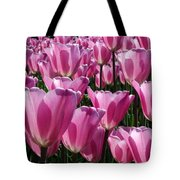 A Field Of Translucent Tulips Tote Bag