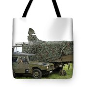 Transmission Troops Of The Belgian Army Tote Bag
